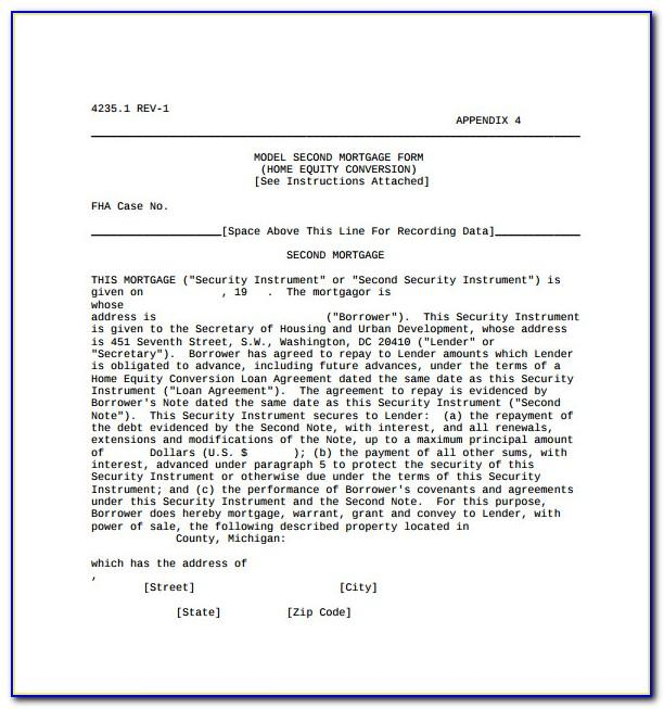 Mortgage Agreement Template Uk
