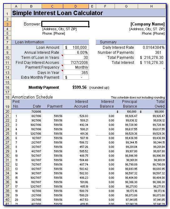Mortgage Amortization Template Excel