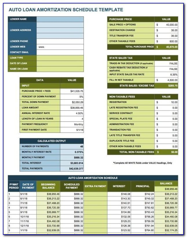 Mortgage Loan Amortization Excel Template