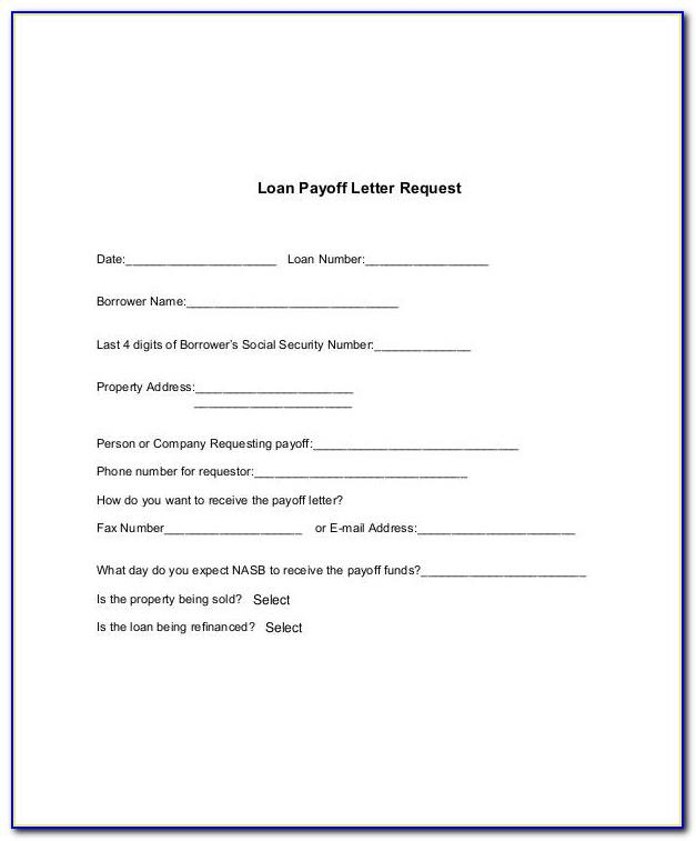 Mortgage Payoff Letter Template