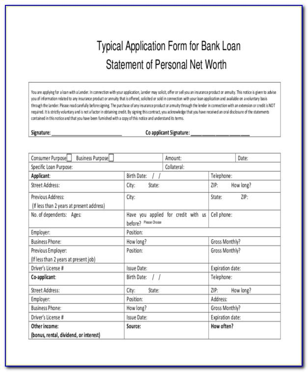 Mortgage Statement Form Pdf