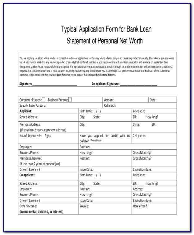Mortgage Statement Form Pdf