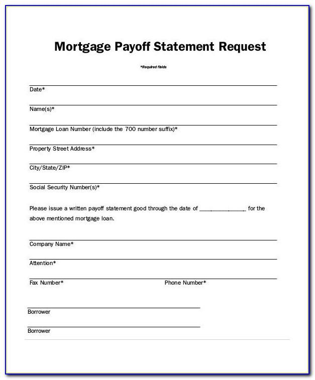 Mortgage Statement Template Free