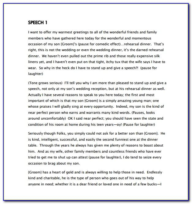 Mother Of The Groom Wedding Speech Template