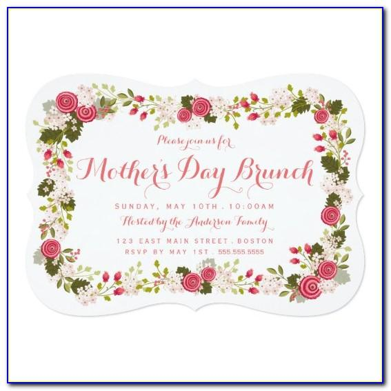 Mother's Day Brunch Invitation Template Free