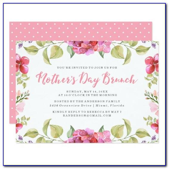 Mother's Day Brunch Invitations Templates