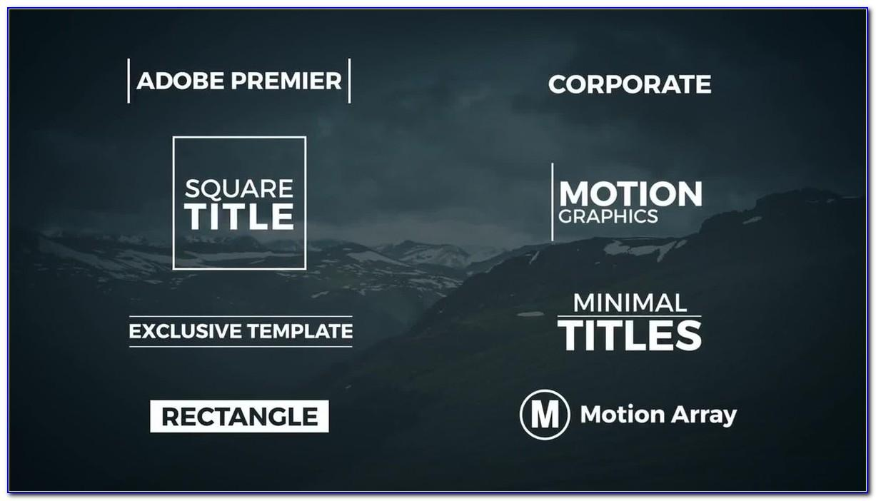 Motion 5 Title Templates Free