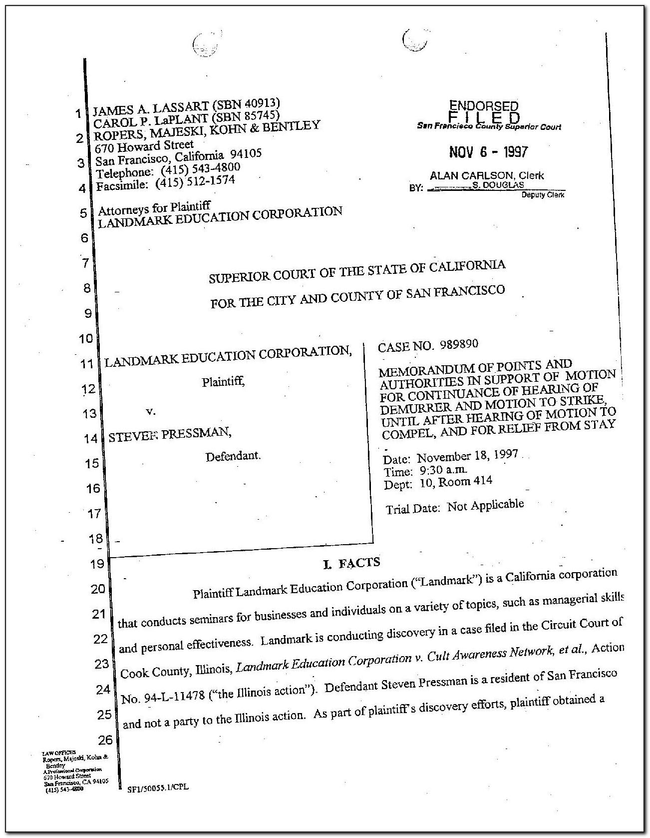 Motion For Continuance Form Florida