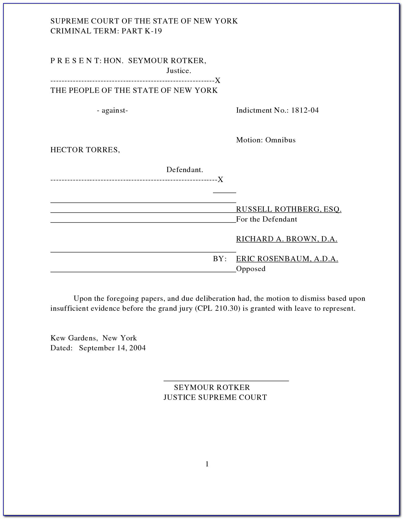 Motion For Continuance Indiana Template