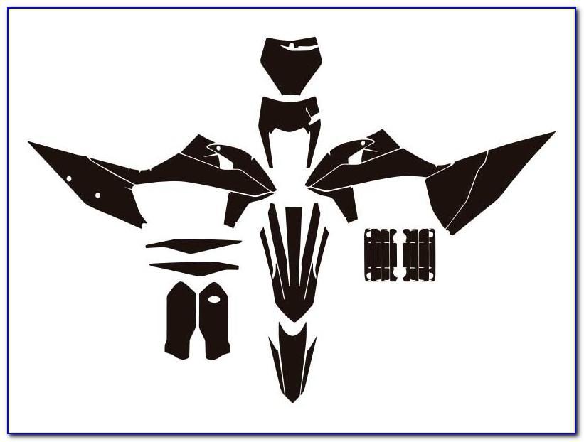 Motocross Graphics Templates Vector