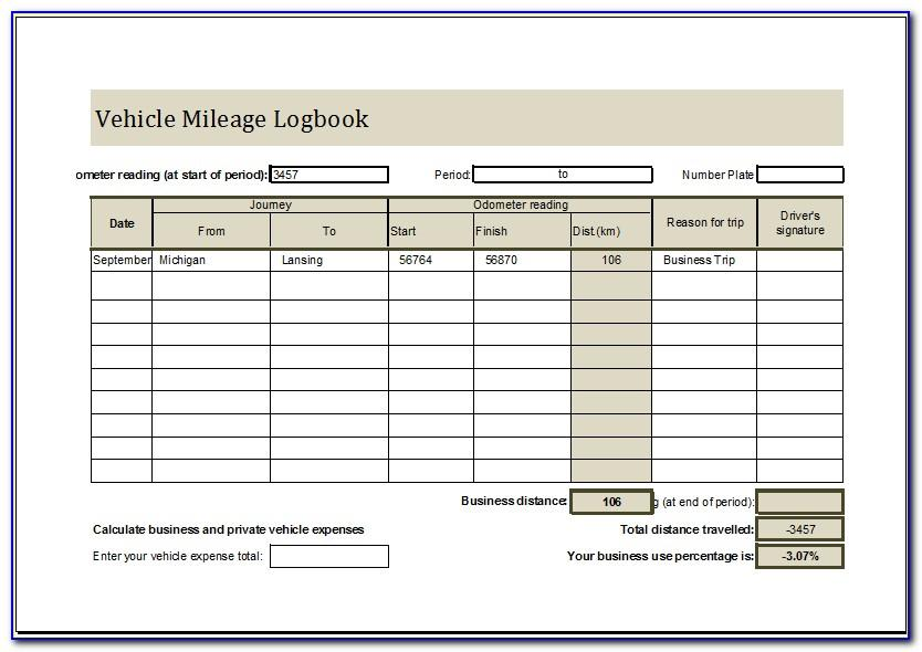 Motor Vehicle Log Book Pdf