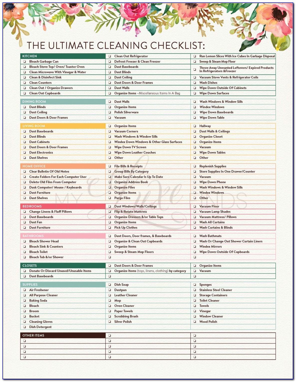 Move In Checklist Template