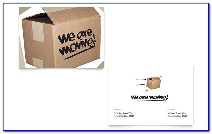 Moving Announcement Template Word Free