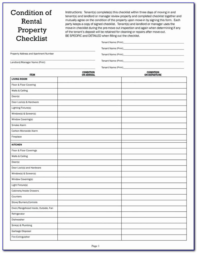 Moving House Checklist Excel Template