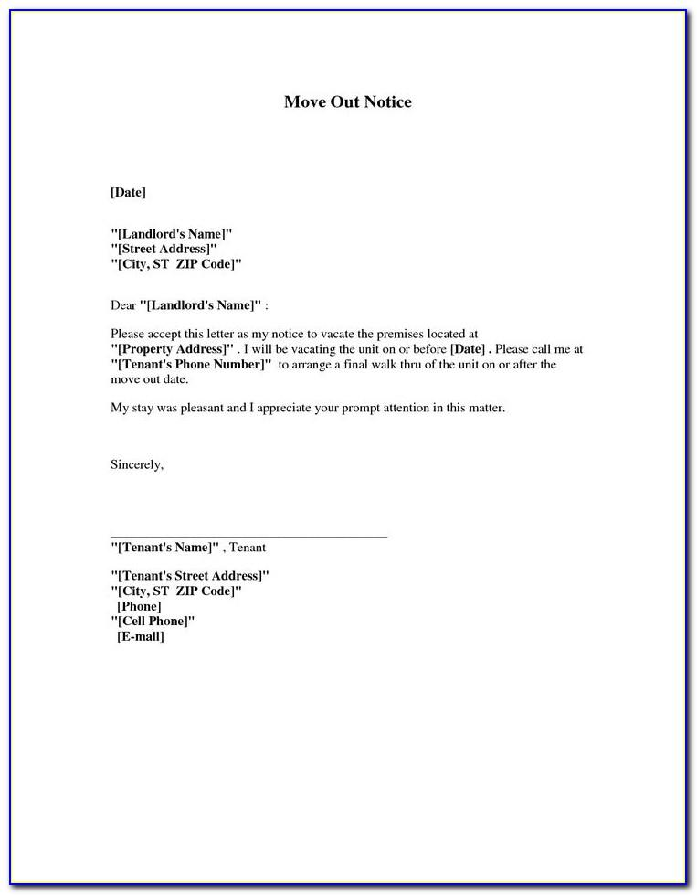 Moving Notice Letter Template