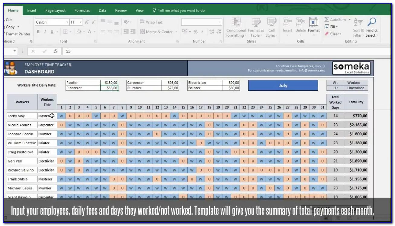 Ms Excel Project Budget Template