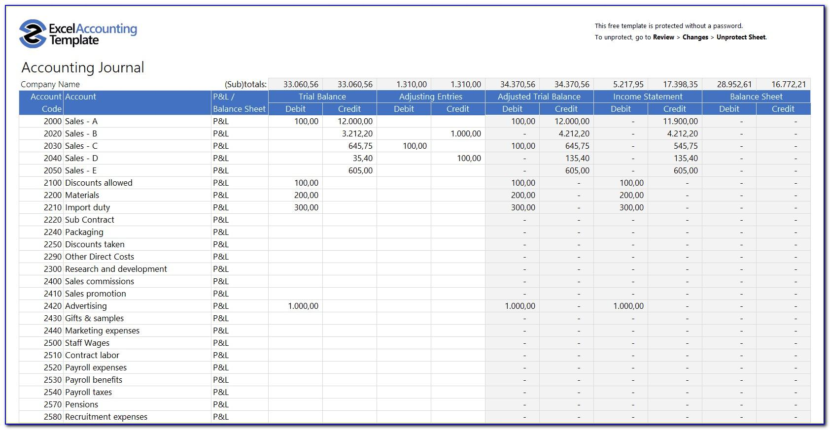 Ms Excel Service Invoice Template