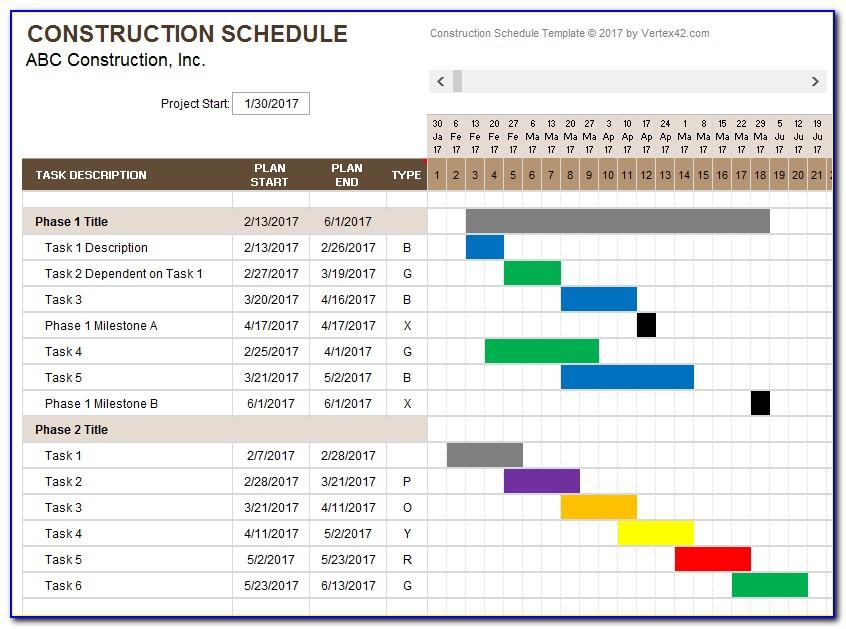 Ms Project Gantt Chart Templates