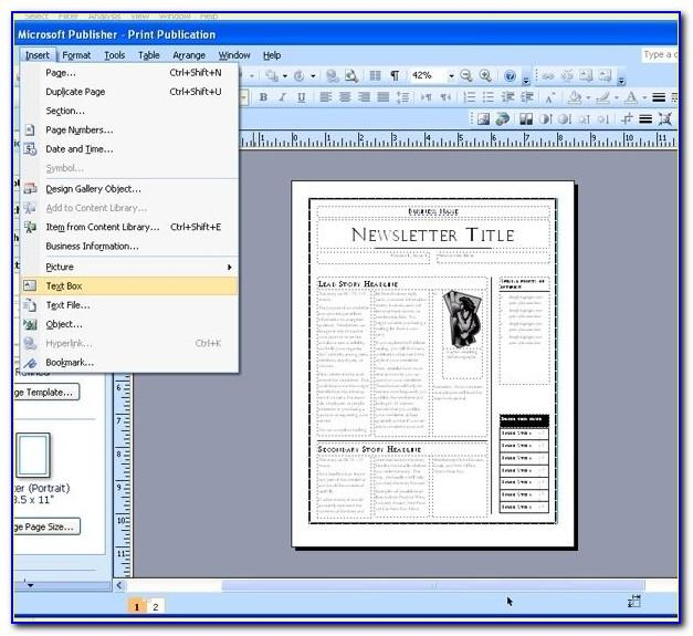 Ms Publisher Newspaper Template