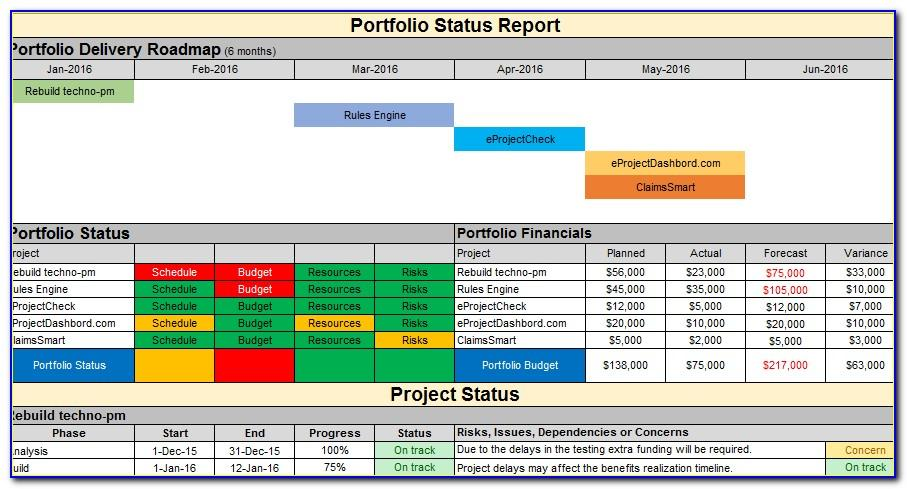 Multiple Projects Timeline Template Excel