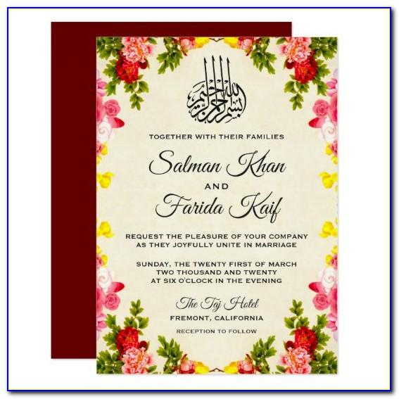 Muslim Wedding Invitation Templates Free Download