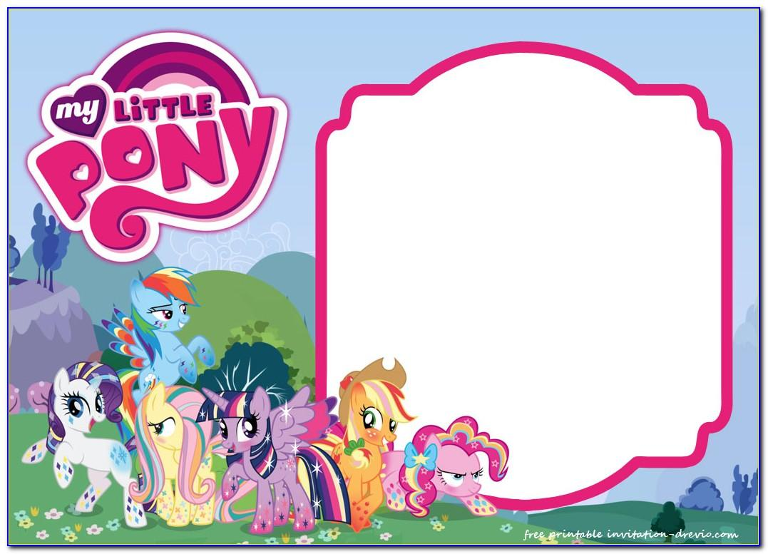 My Little Pony Birthday Invitation Maker
