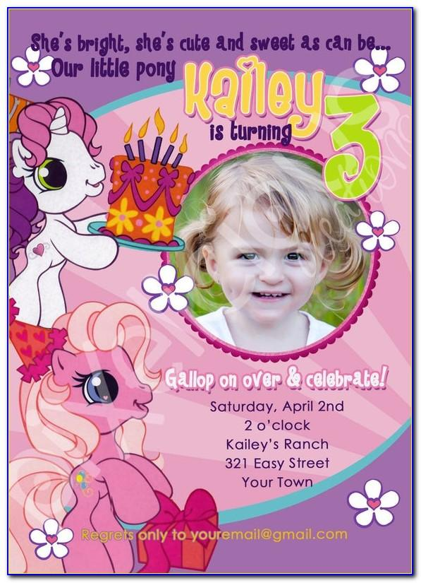 My Little Pony Birthday Invitation Template