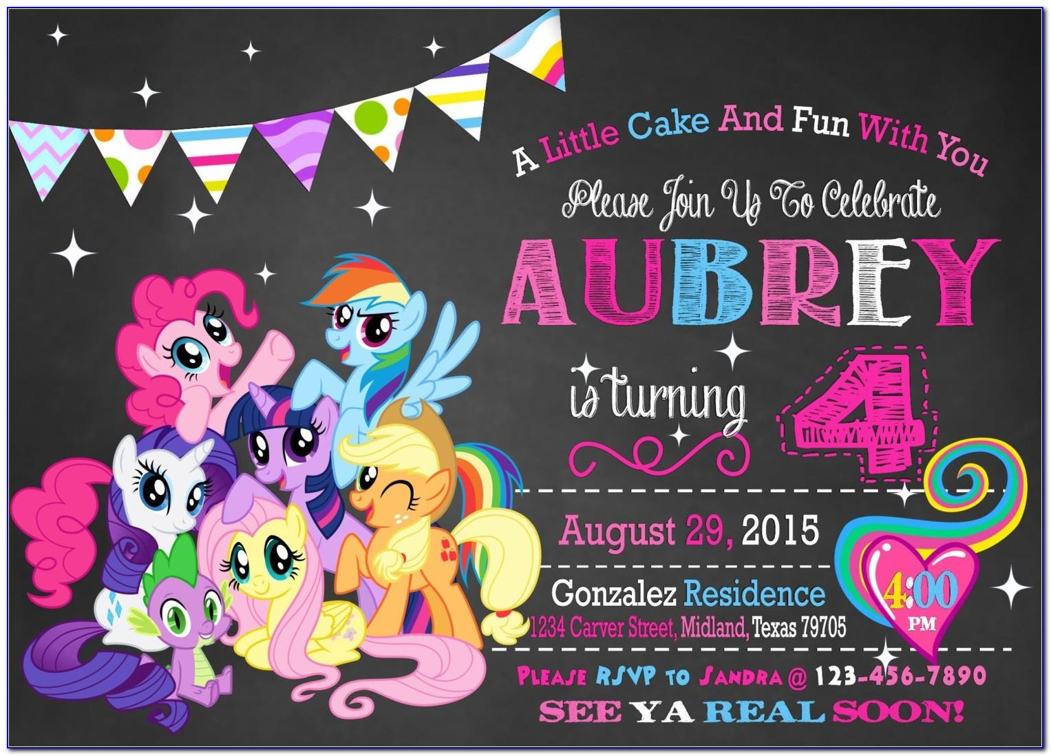 My Little Pony Birthday Party Invitation Wording