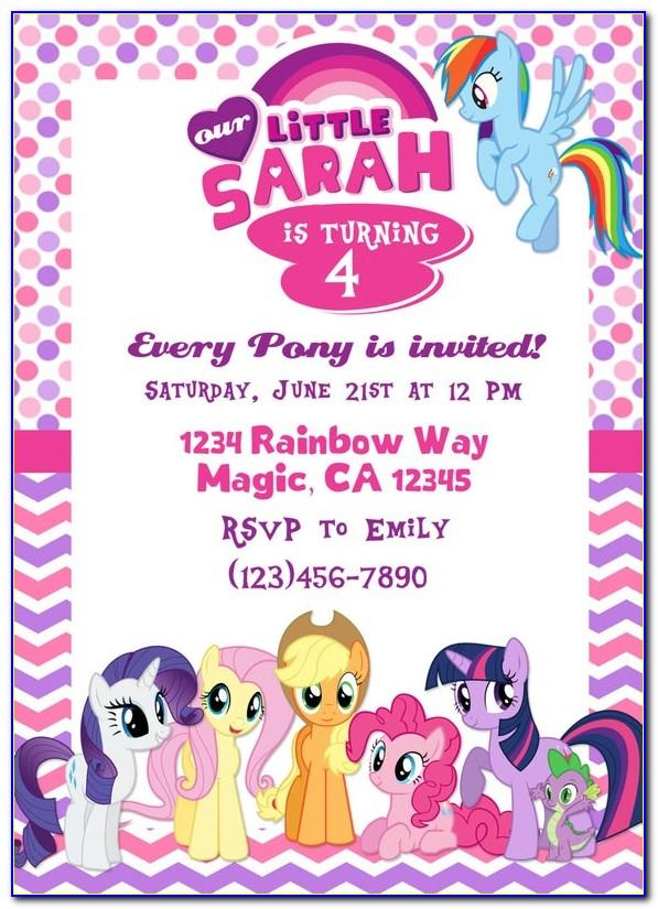 My Little Pony Invitation Blank Template