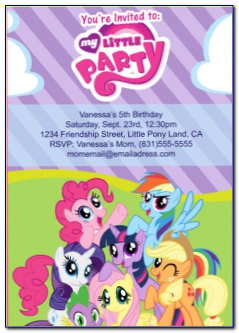 My Little Pony Invitation Wording