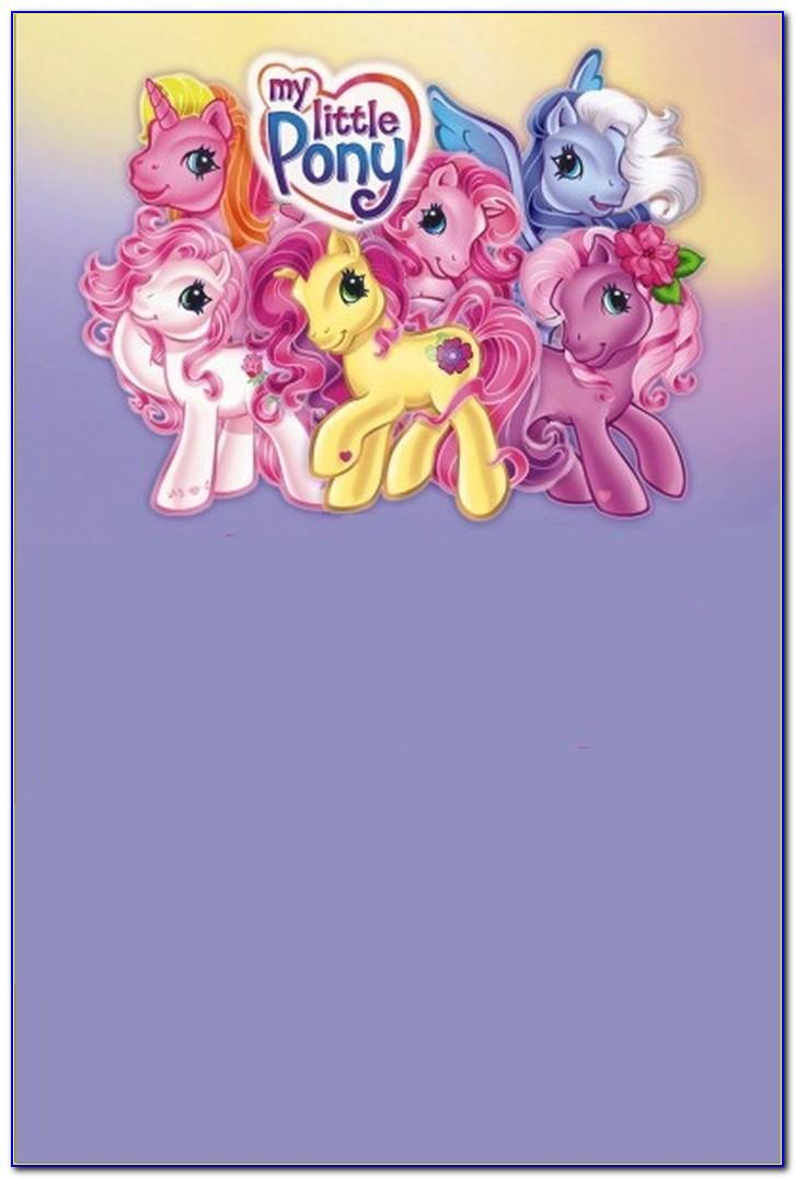 My Little Pony Invitations Template