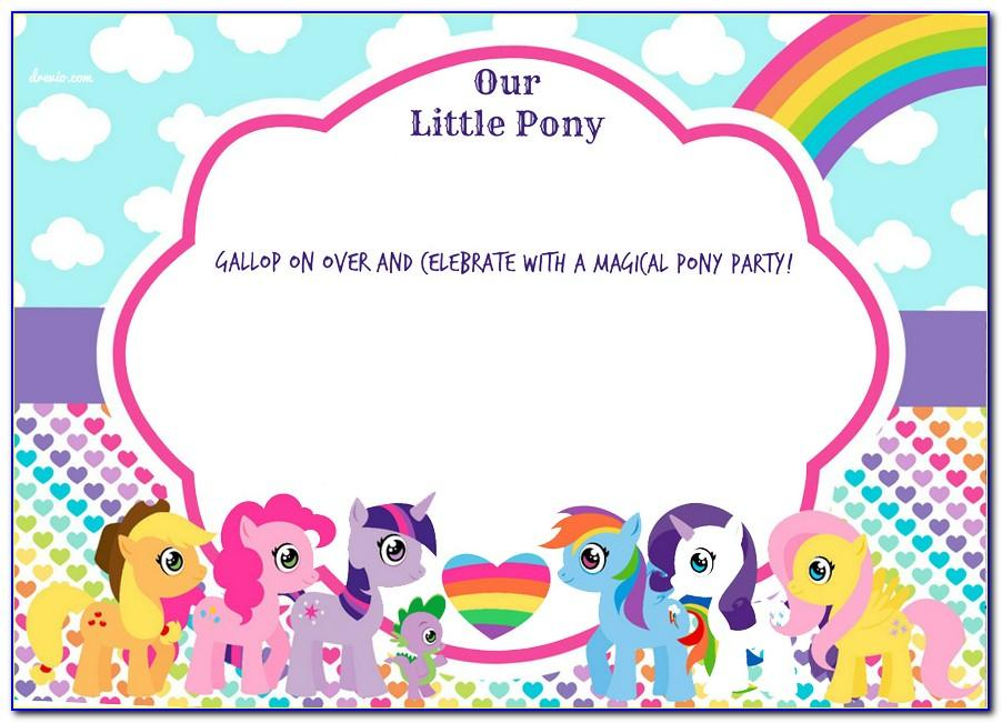 My Little Pony Party Invitation Wording