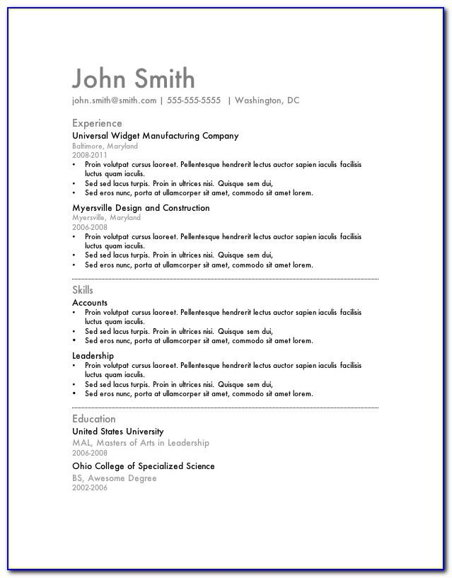 My Perfect Resume Templates Free Download