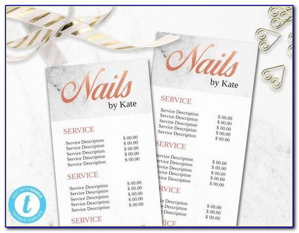 Nail Salon Flyer Templates Psd