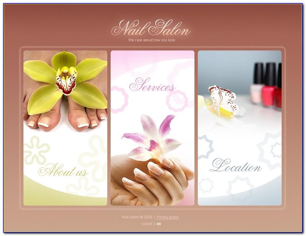 Nail Salon Menu Templates