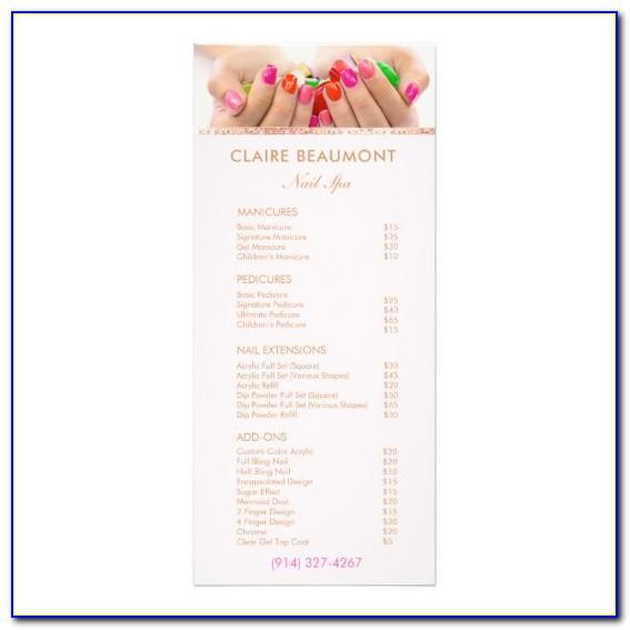 Nail Salon Service Menu Template