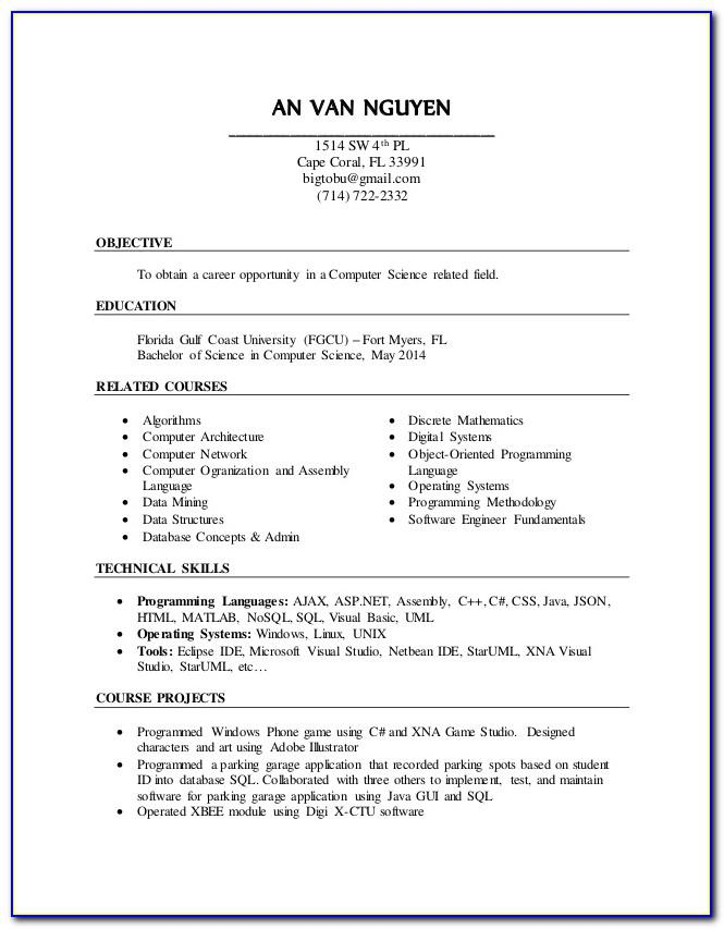 Nail Tech Resume Template