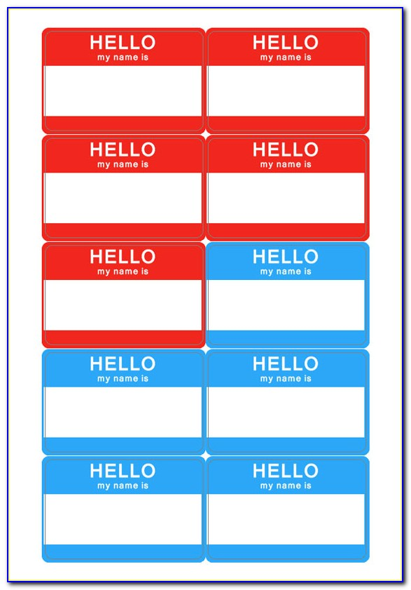 Name Badge Template Free Word