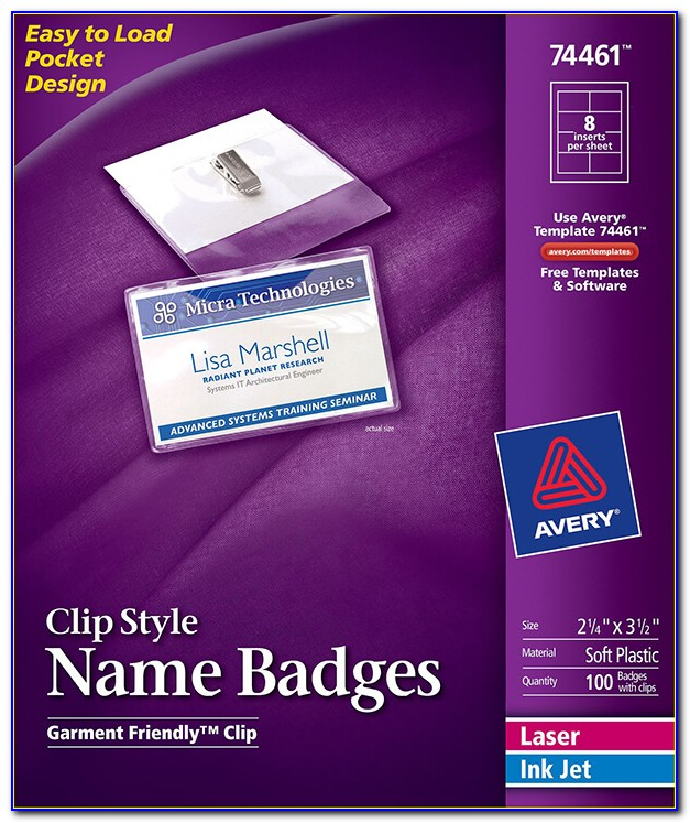 Name Tag Design Template Free Download
