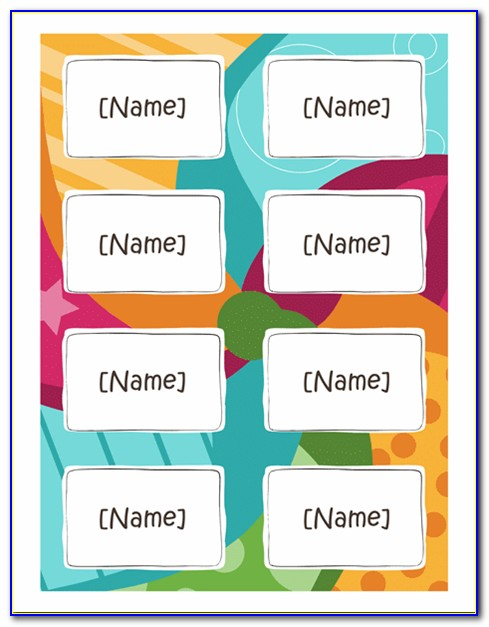 Name Tag Template Free Word
