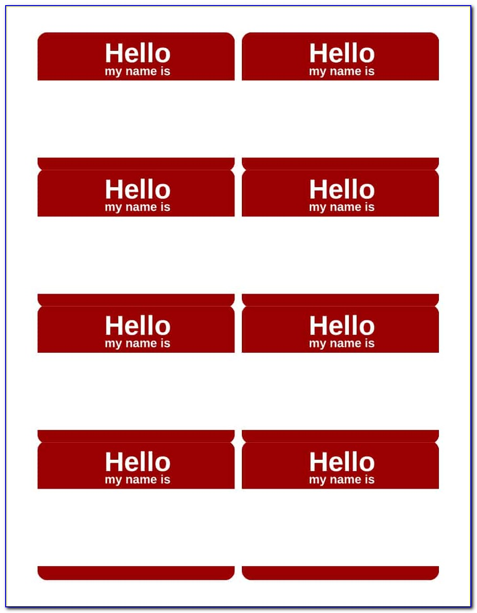 Name Tag Template Free