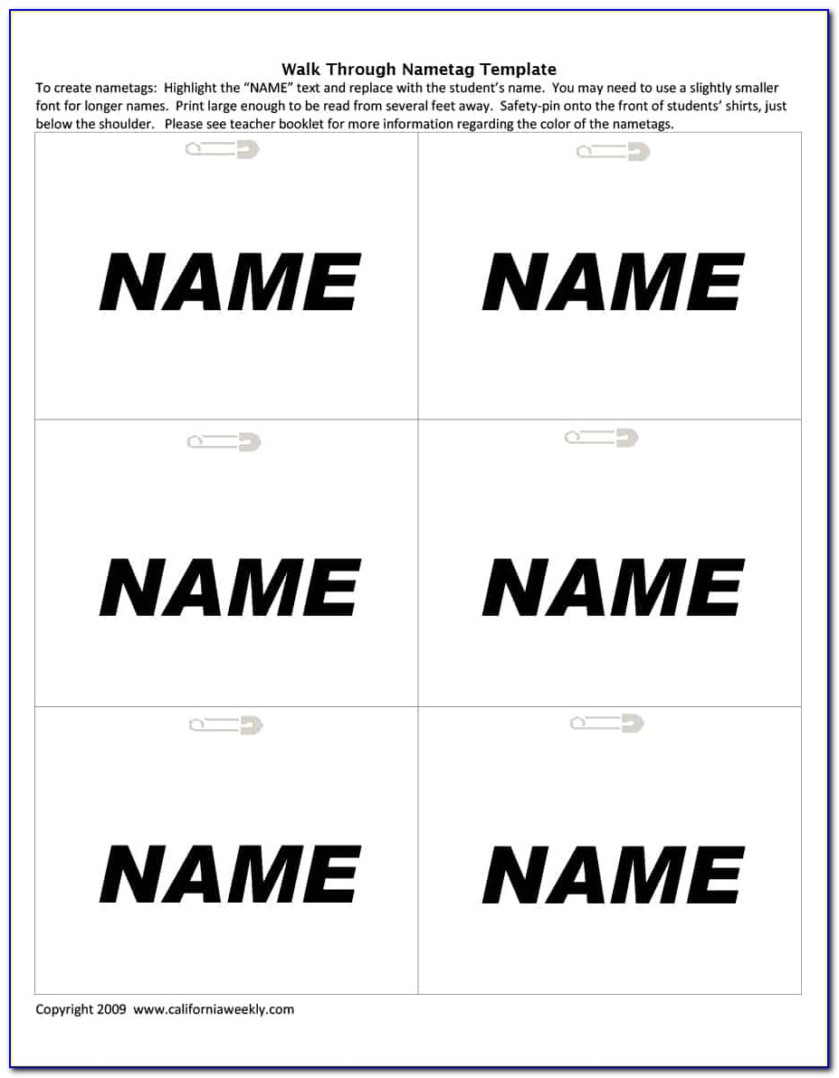 Name Tag Template Psd Free Download