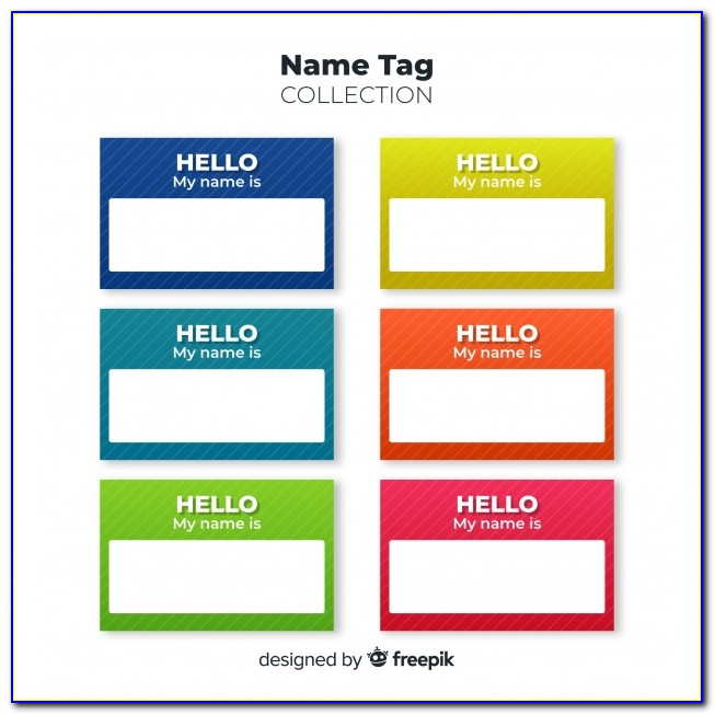 Name Tag Template Word Free Download