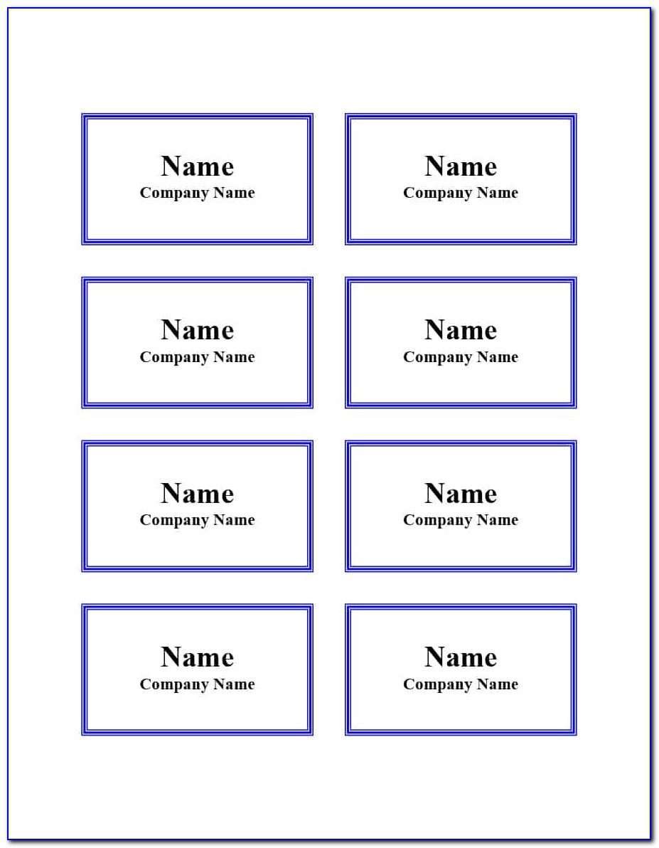 Name Tags Templates Free Download