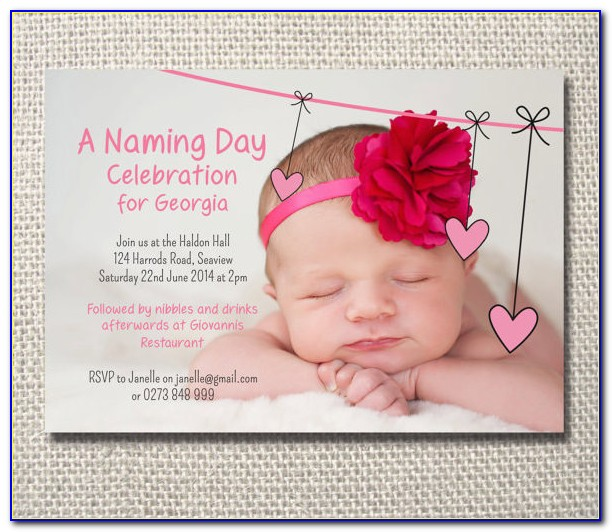 Naming Ceremony Invitation Card Format