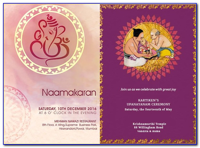 Naming Ceremony Invitation Cards Online India