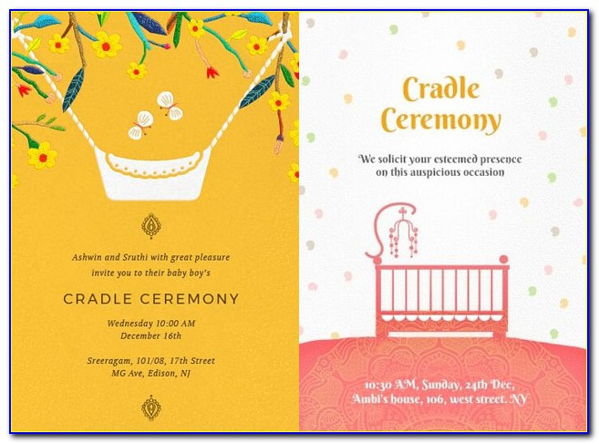 Naming Ceremony Invitation Format In Kannada
