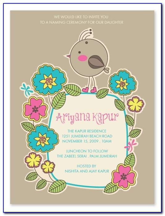 Naming Ceremony Invitation Template Free Download