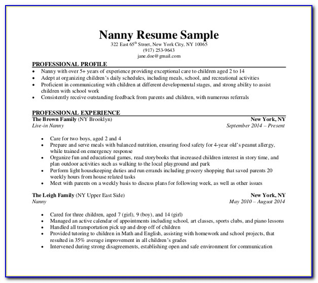 Nanny Pay Stub Template