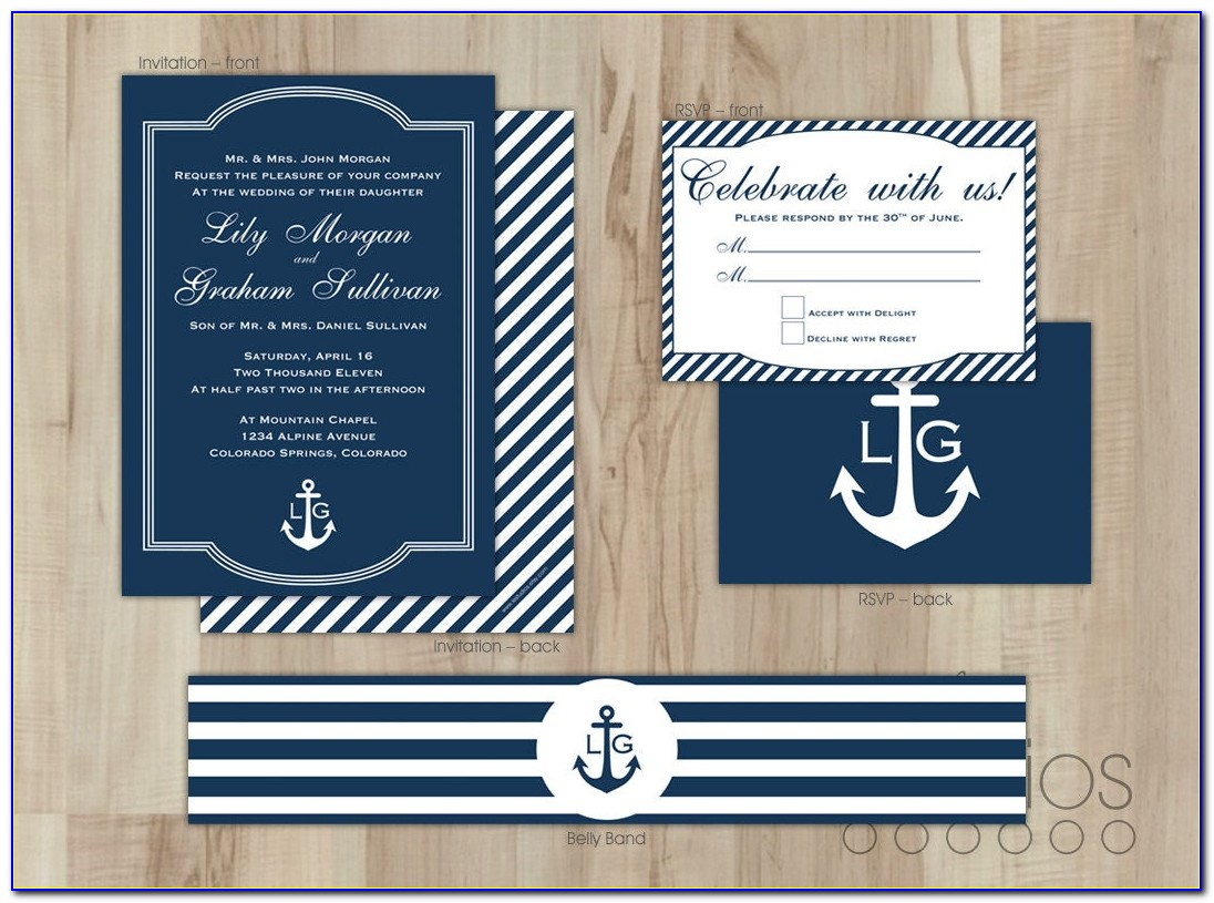 Nautical Themed Baby Shower Invitation Free Templates